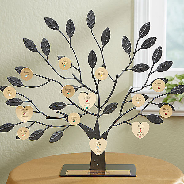 Gold Engraved Family Tree