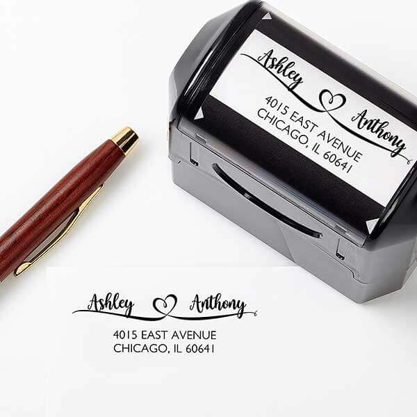 Custom Wedding Address Stamp
