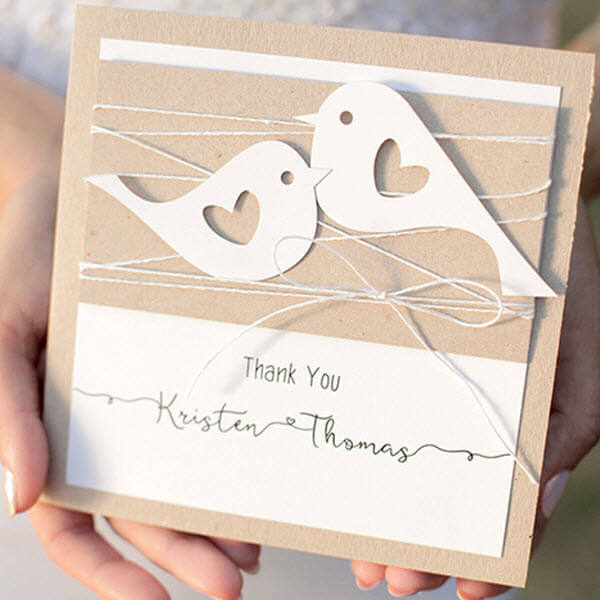 Sample Wedding Thank You Cards