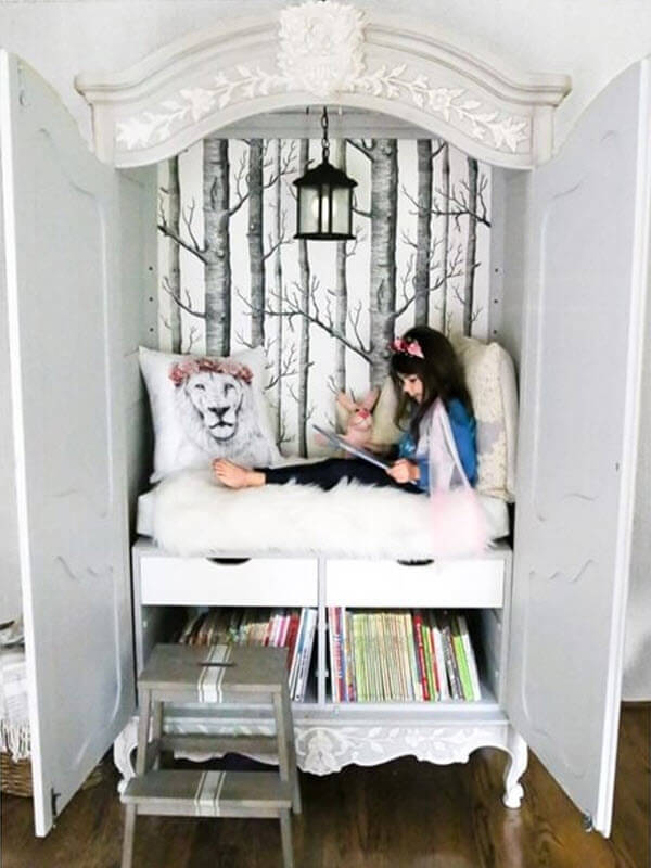 Narnia Inspired Wardrobe Reading Nook