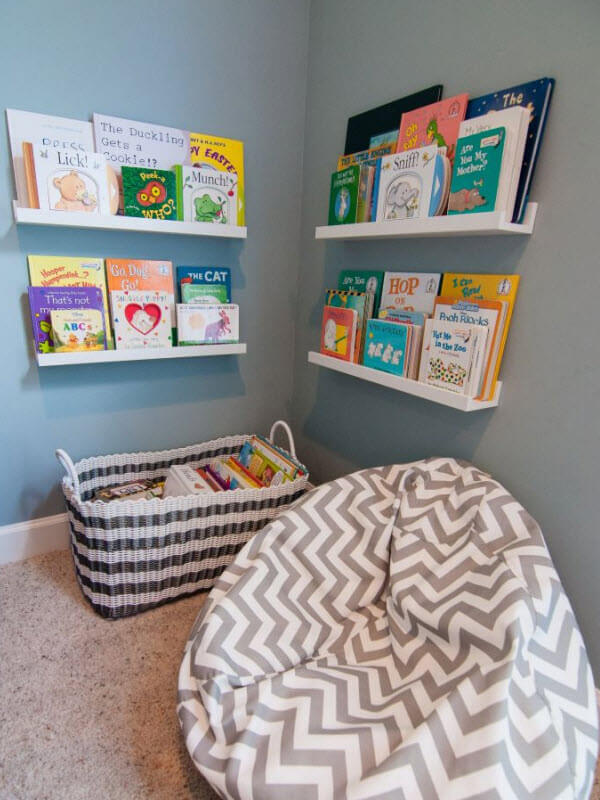 Simple Reading Nook For Kids