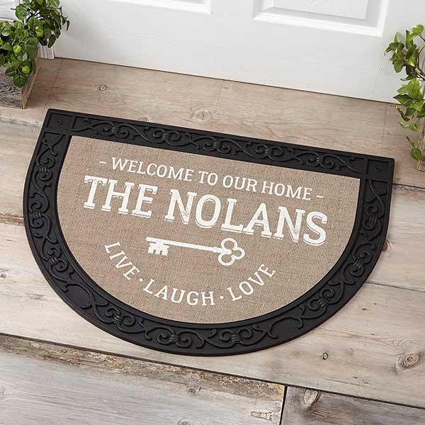Real Estate Closing Gifts - Half Round Custom Doormat