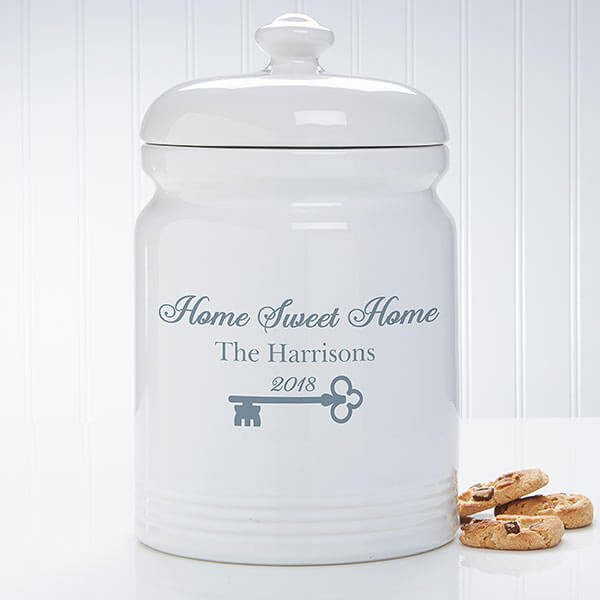 Real Estate Closing Gifts - Personalized Cookie Jar