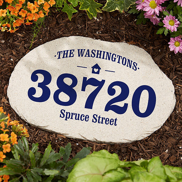 Real Estate Closing Gifts - New Address Garden Stone