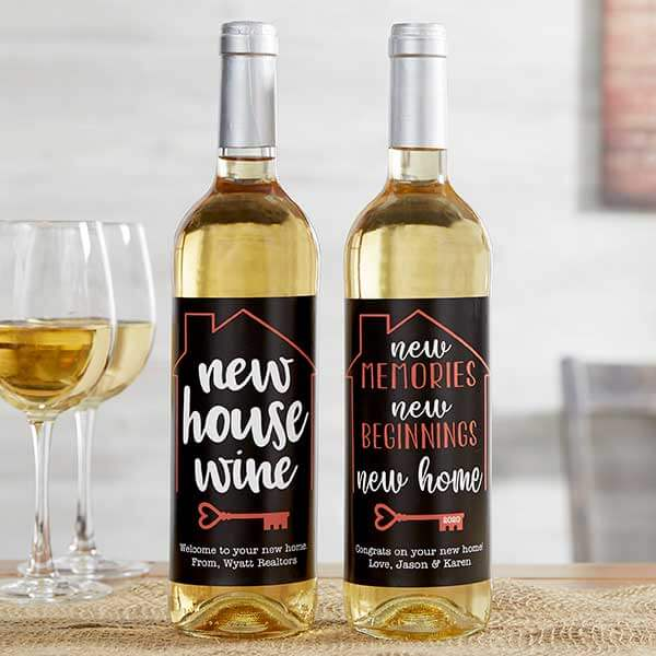 Realtor Closing Gifts: Wine Bottle Label