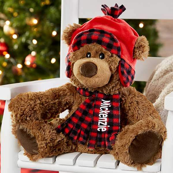 Buffalo Check Teddy Bear