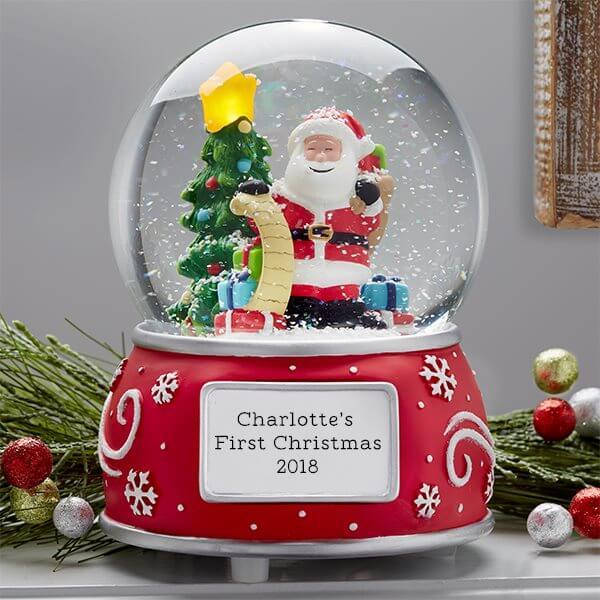 Baby's First Christmas Keepsake Snow Globe