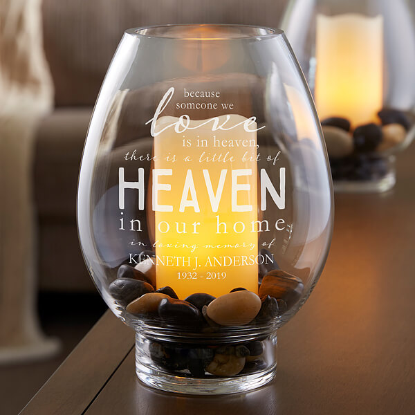 Memorial Engraved Candle Holder