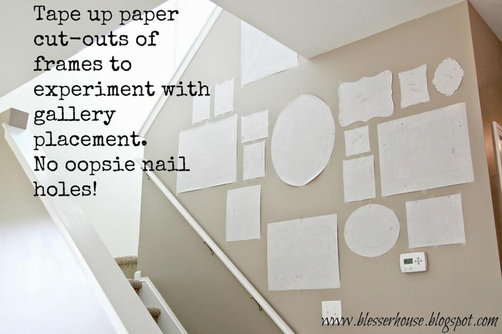 Gallery wall placement tip