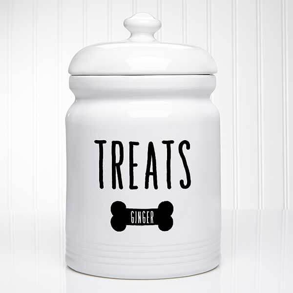 Personalized Dog Treat Jar - Kitchen Counter Decor Ideas