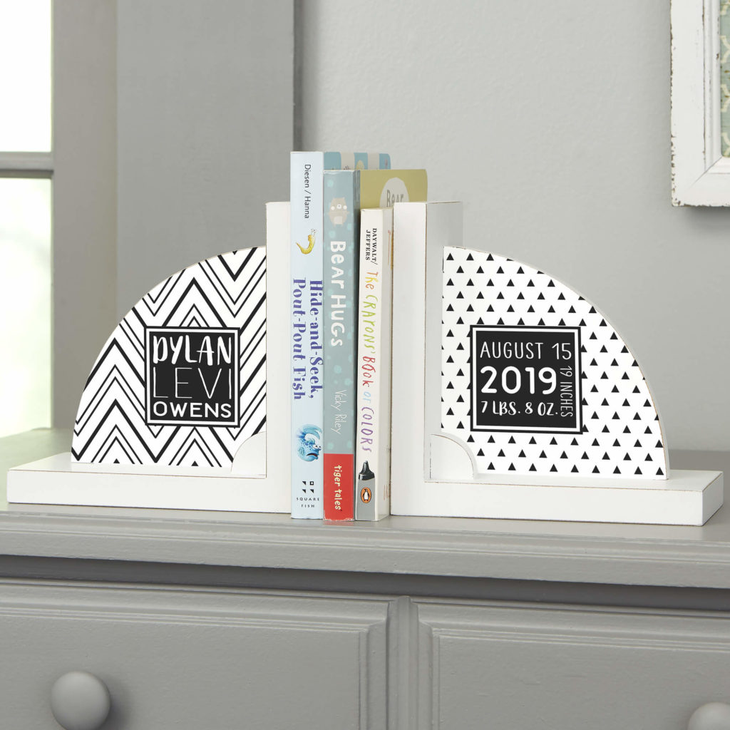 Black & White Nursery Decor - Book Ends