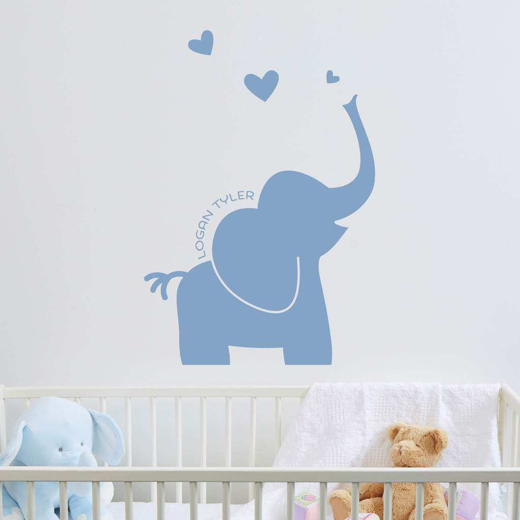 Elephant Nursery Decor - Wall Decal