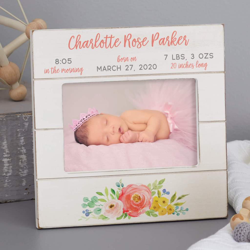 Floral Nursery Decor - Baby Picture Frame