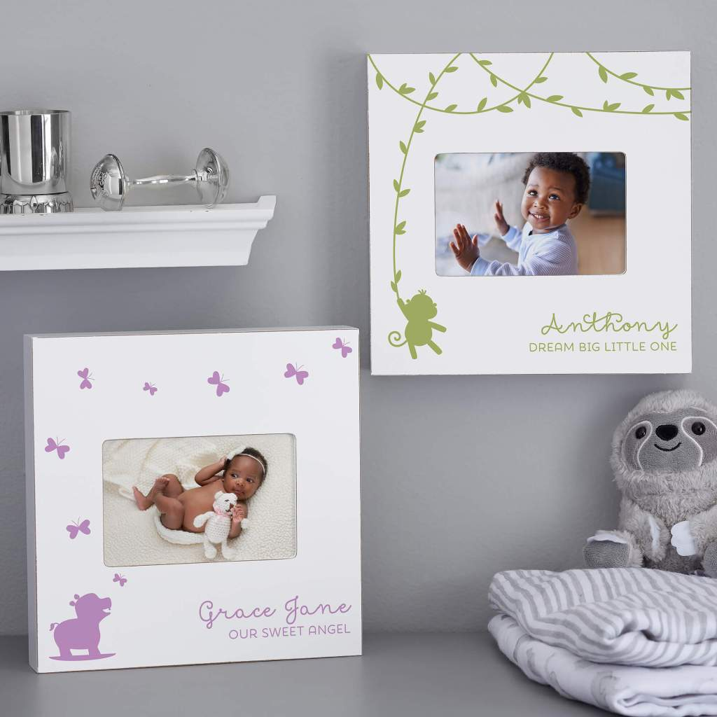 Jungle Animal Nursery Decor - Baby Picture Frame