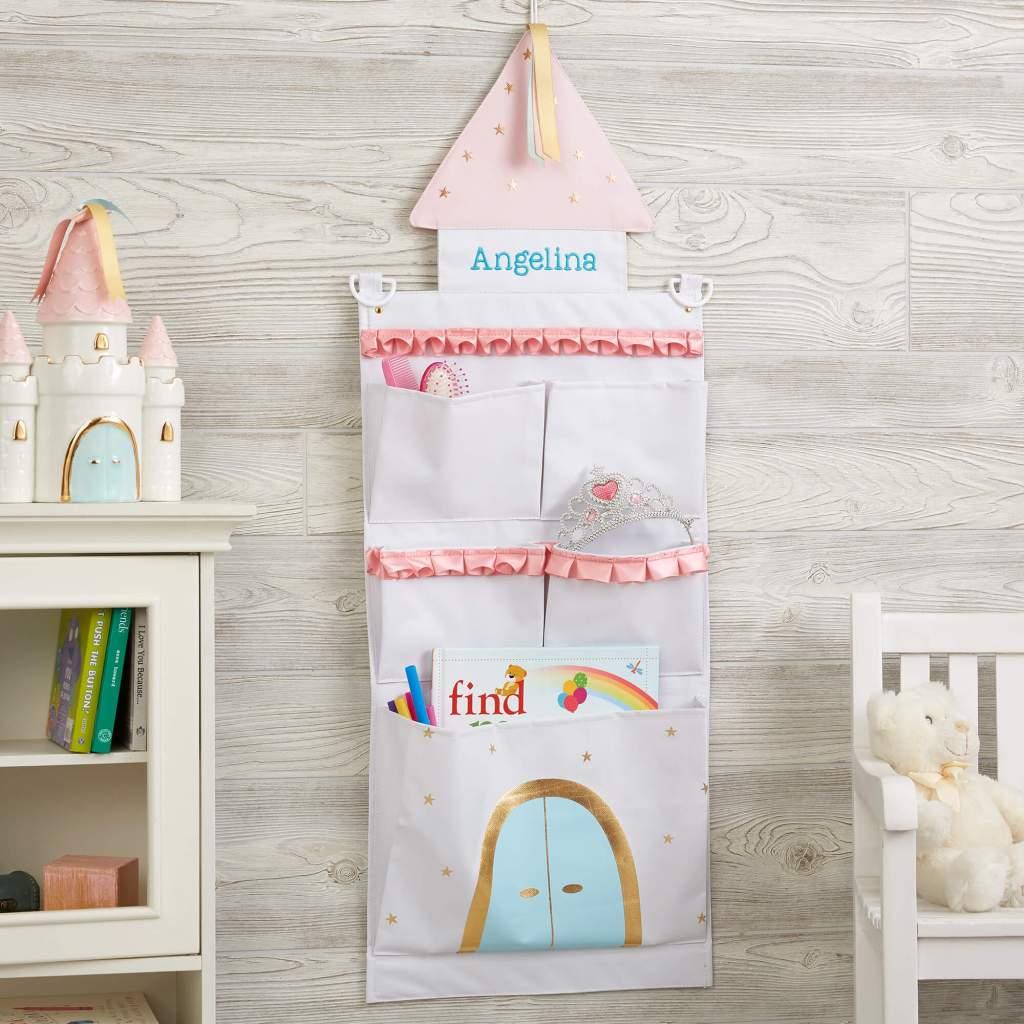 Princess Nursery Decor - Wall Storage Organizer