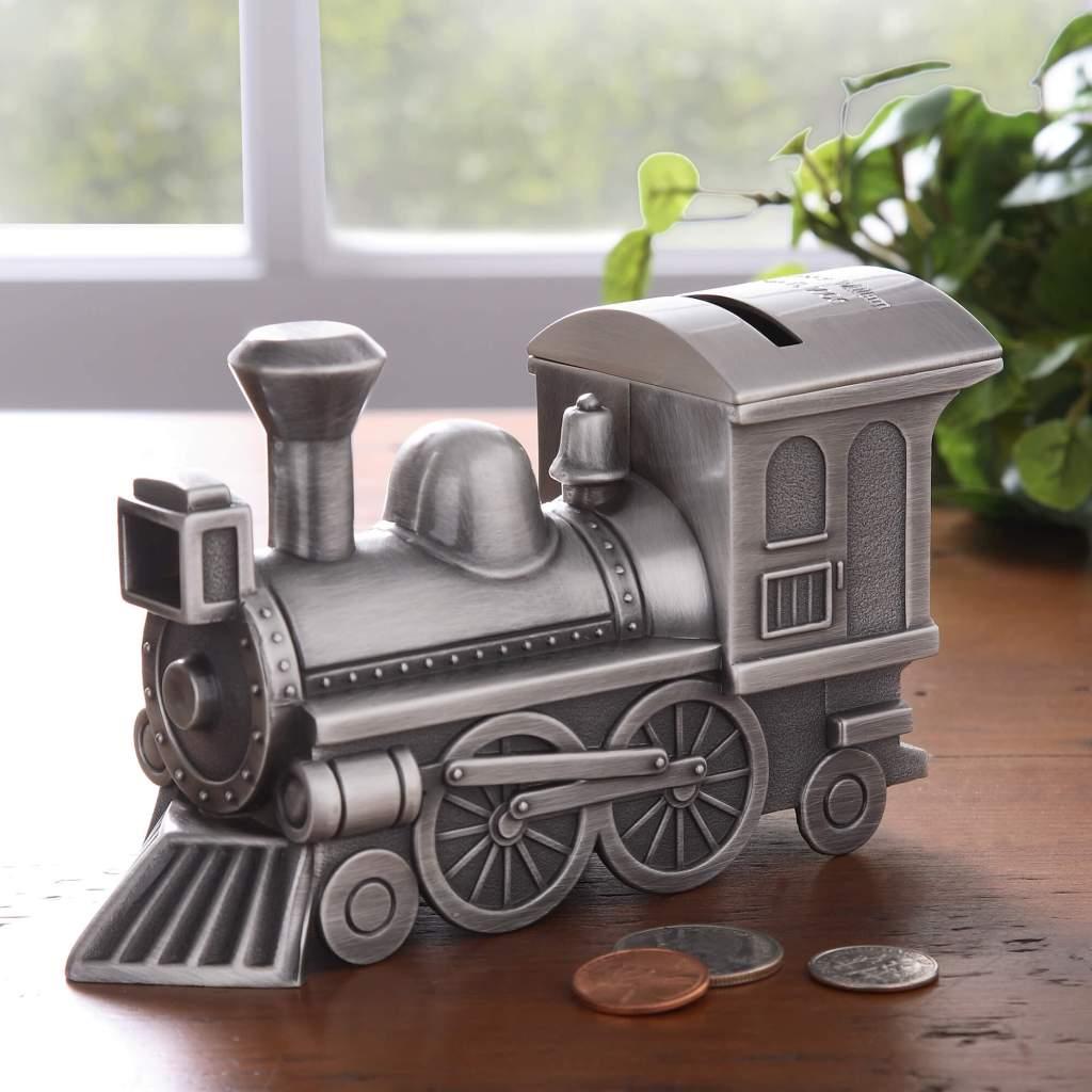 Transportation Nursery Decor - Train Piggy Bank