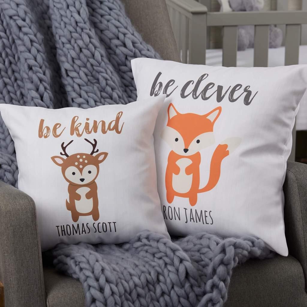Woodland Nursery Decor - Baby Throw Pillows