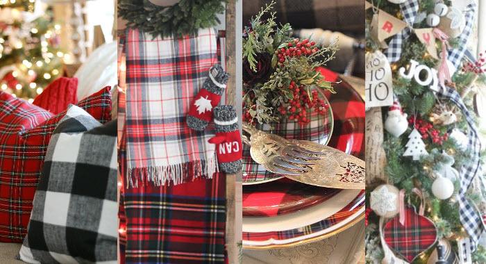 Mixing and Matching Christmas Plaid Decor