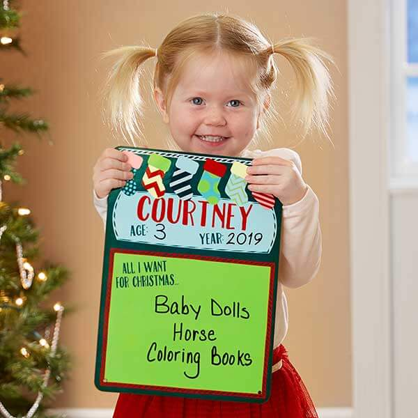 All I Want For Christmas  Personalized Dry Erase Sign