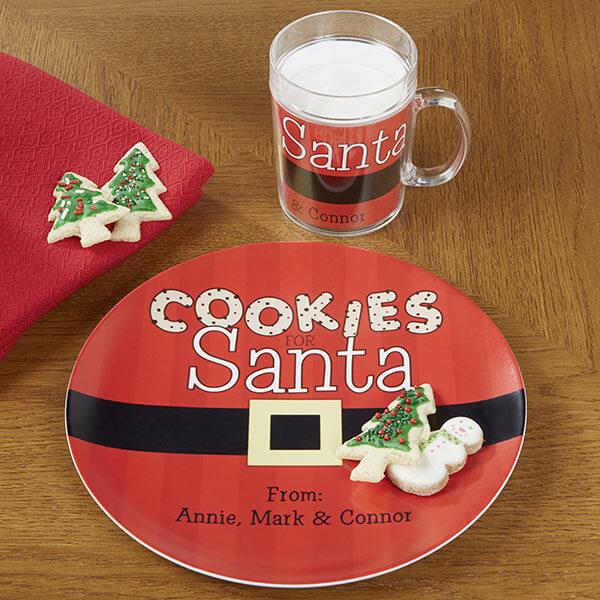 Cookies for Santa Melamine Cup & Plate