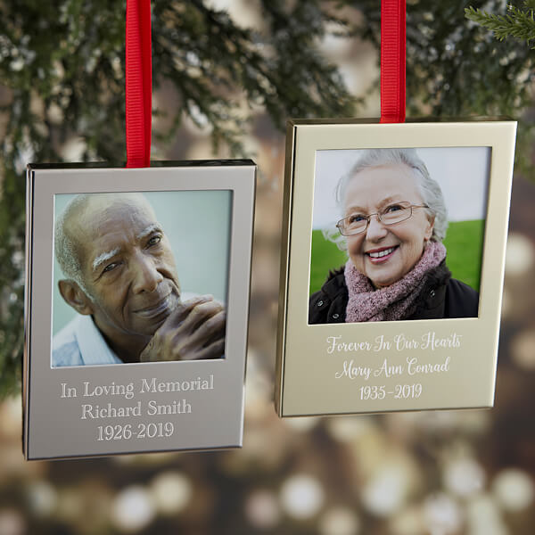 First Christmas Memorial Picture Frame Ornaments