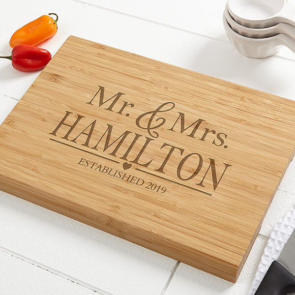 First Married Christmas Cutting Board