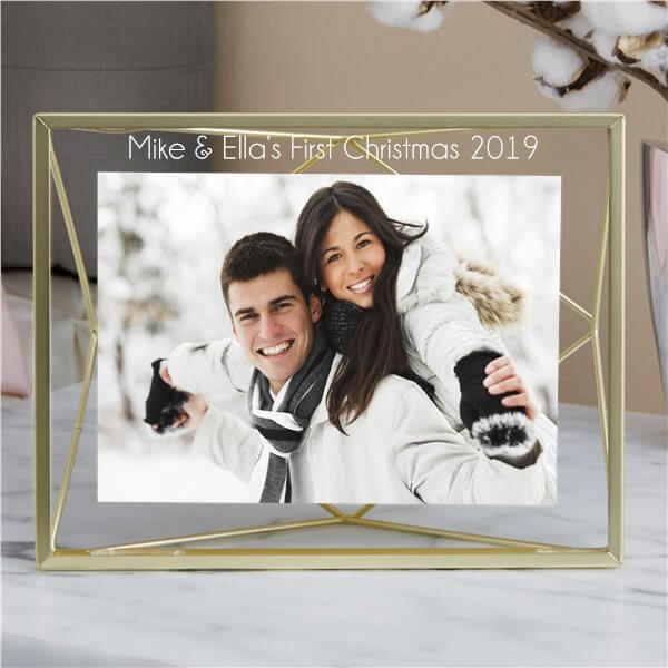 First Married Christmas Picture Frame