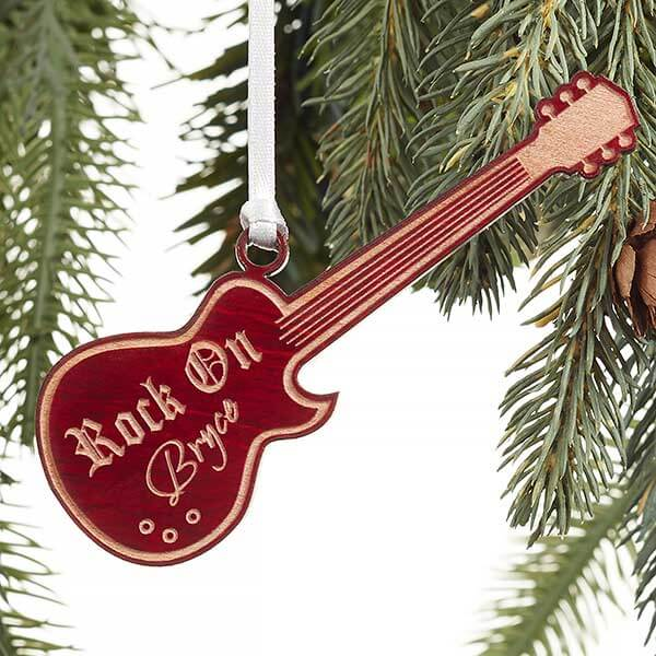 Personalized Kids Guitar Ornament