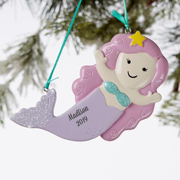 Personalized Kids Mermaid Ornament