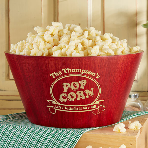 Personalized Family Popcorn Bowl