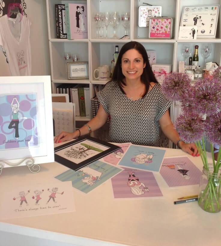 Joanna Alberti at work in her studio