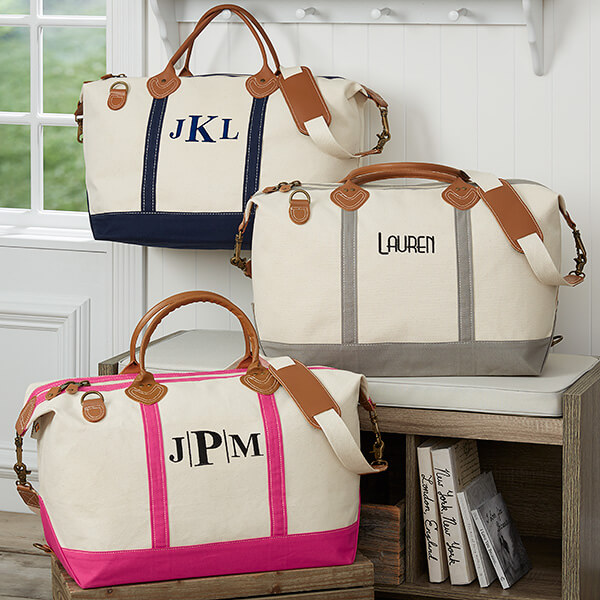 Embroidered Weekender Duffel Bag