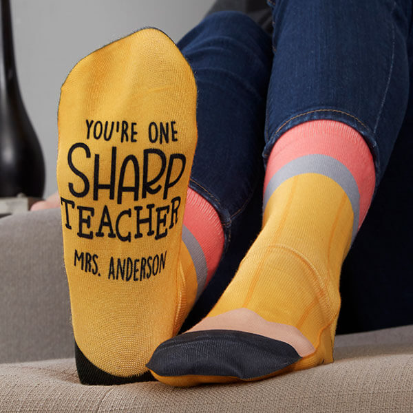No 2 Pencil Custom Teacher Socks