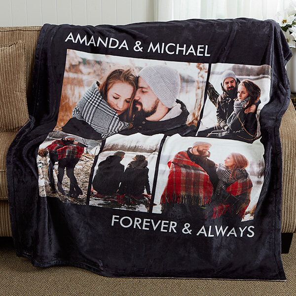 Romantic Photo Collage Blanket