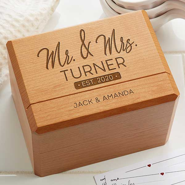 Mr & Mrs Recipe Box