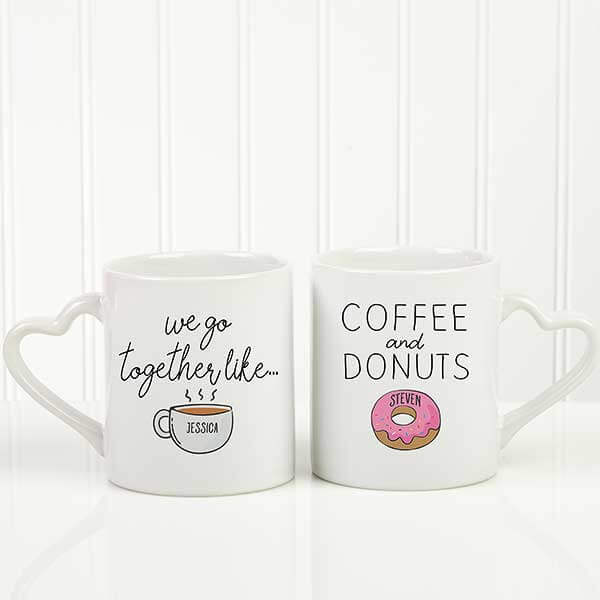 We Go Together Like Coffee & Donuts Mug Set
