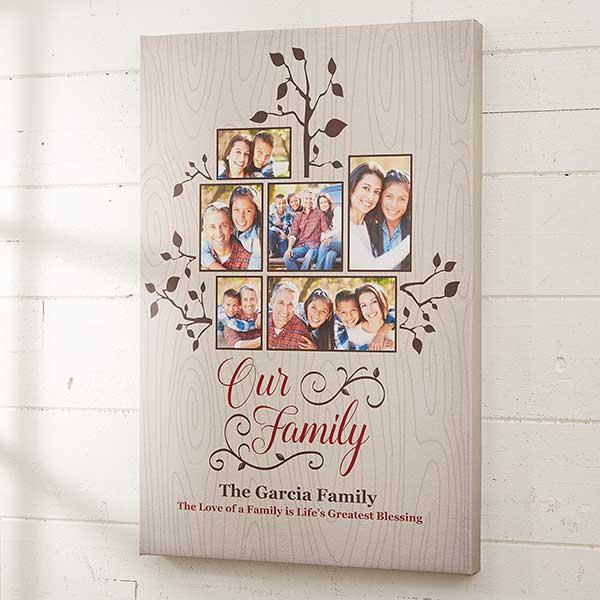 Photo Family Tree Canvas Prints