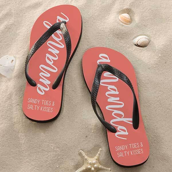 Scripty Style Personalized Flip Flops