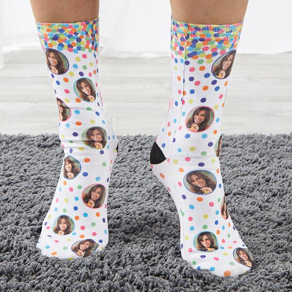 Birthday Photo Socks