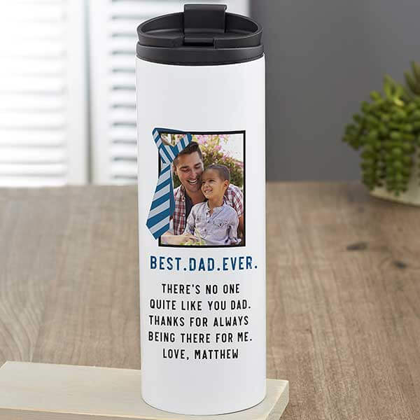 Father's Day Photo Travel Mug