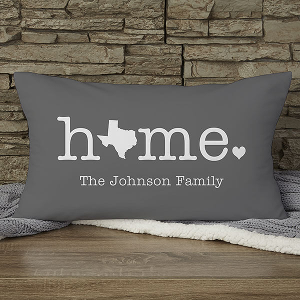 Custom Home State Lumbar Pillow