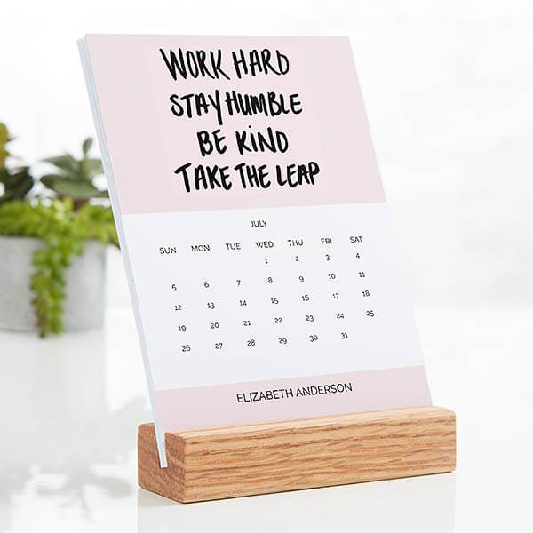 Motivational Wood Easel Calendar