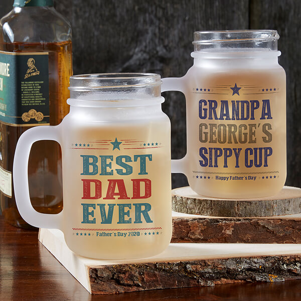 Personalized Mason Jar Mug for Dad