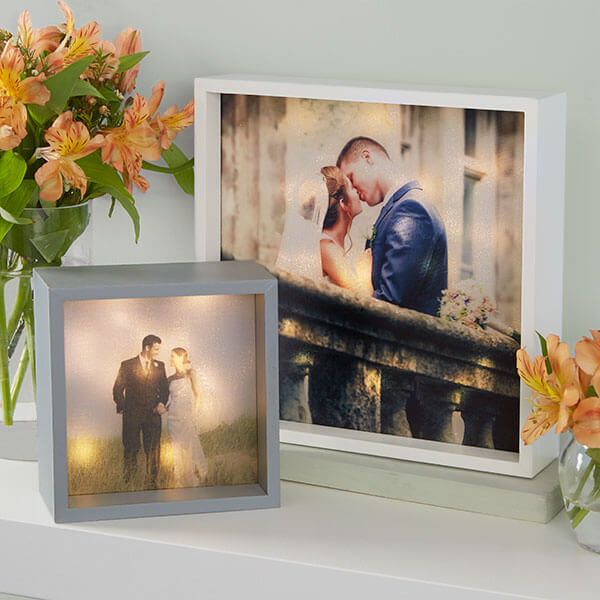 Custom Photo LED Light Shadow Box
