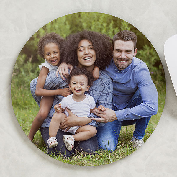 Round Photo Mouse Pad