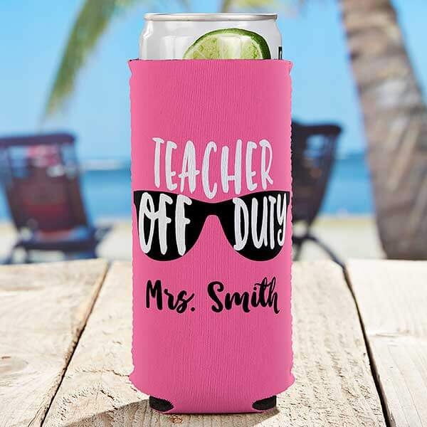 Teacher Slim Can Cooler