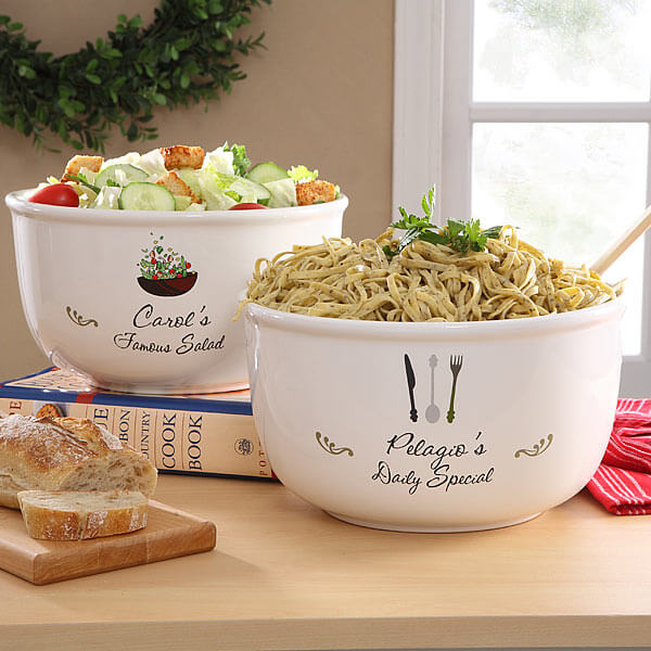 Personalized Serving Bowl