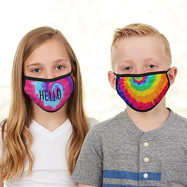 Tie Dye Kids Face Masks