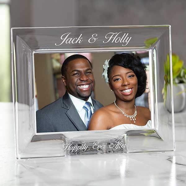 15th Anniversary Gifts by Year- Crystal Picture Frame