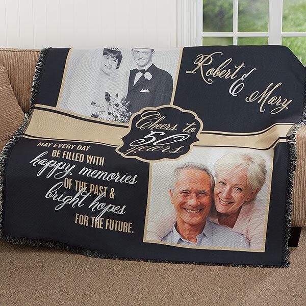 50th Anniversary Gift Ideas - Photo Blanket